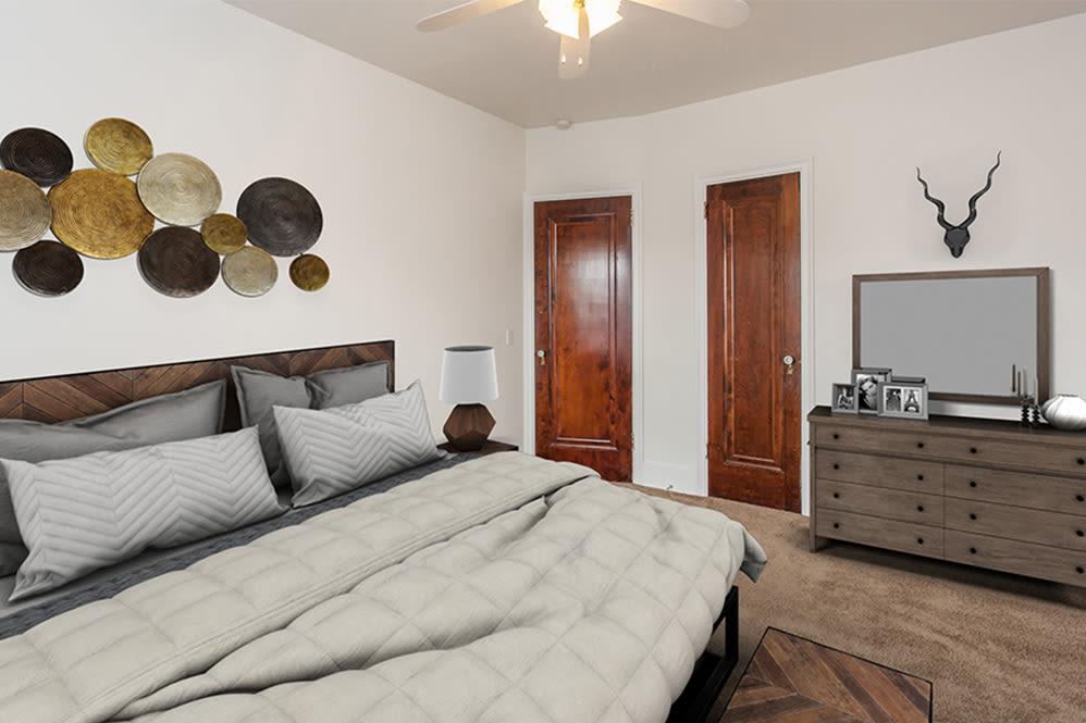 Open floor plan in apartment at Barrington Apartments