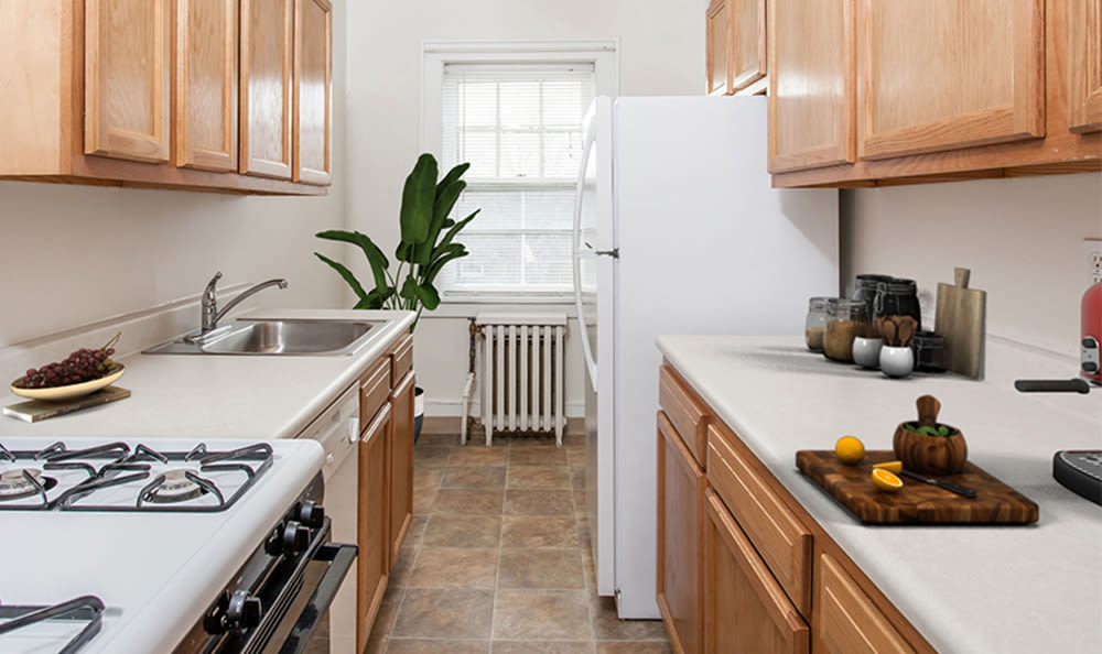 Kitchen at Barrington Apartments