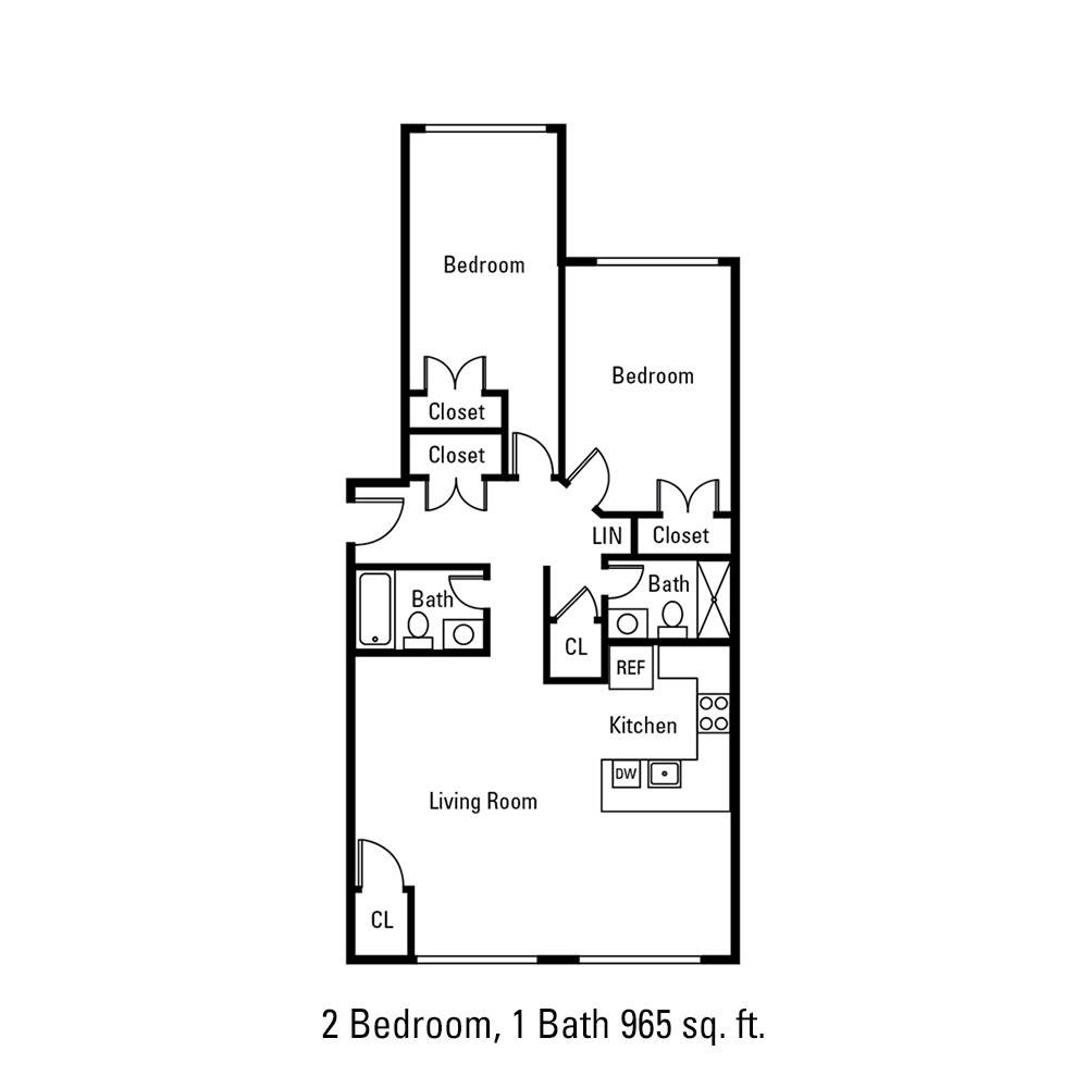 2 Bedroom, 1 Bath 965 sq. ft. apartment in Canandaigua, NY