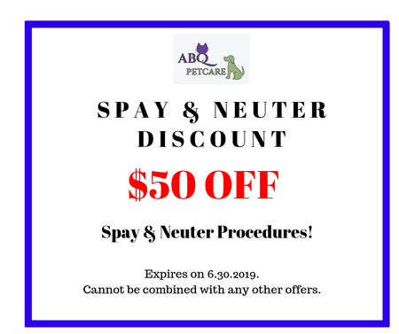 Spay and neuter discount