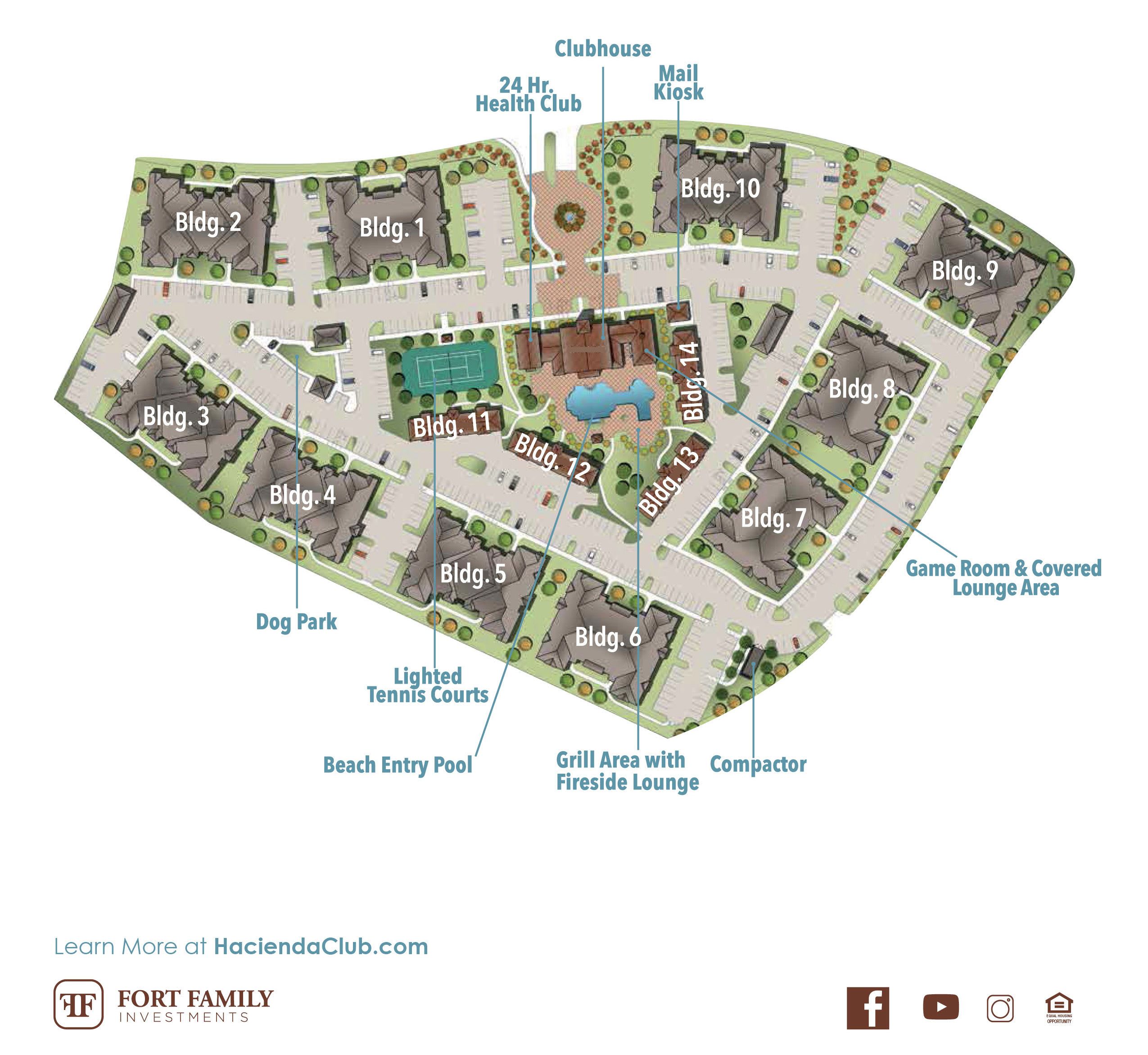 View our floor plans at Hacienda Club