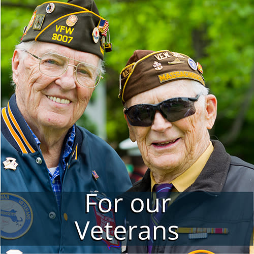 Learn about our Veterans Program at Symphony at Cherry Hill in Cherry Hill, New Jersey.