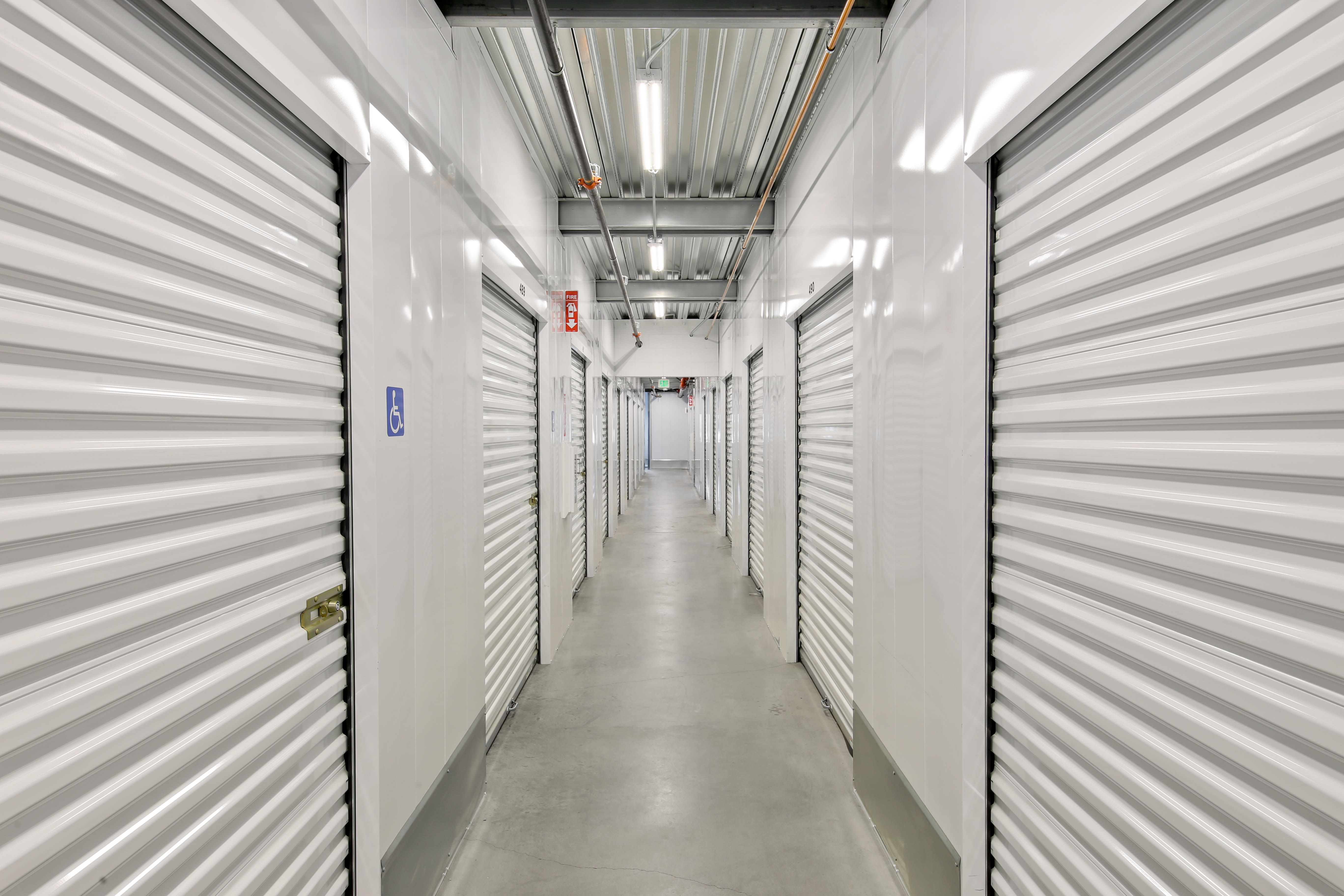 Well-lighted interior storage units in National City, California