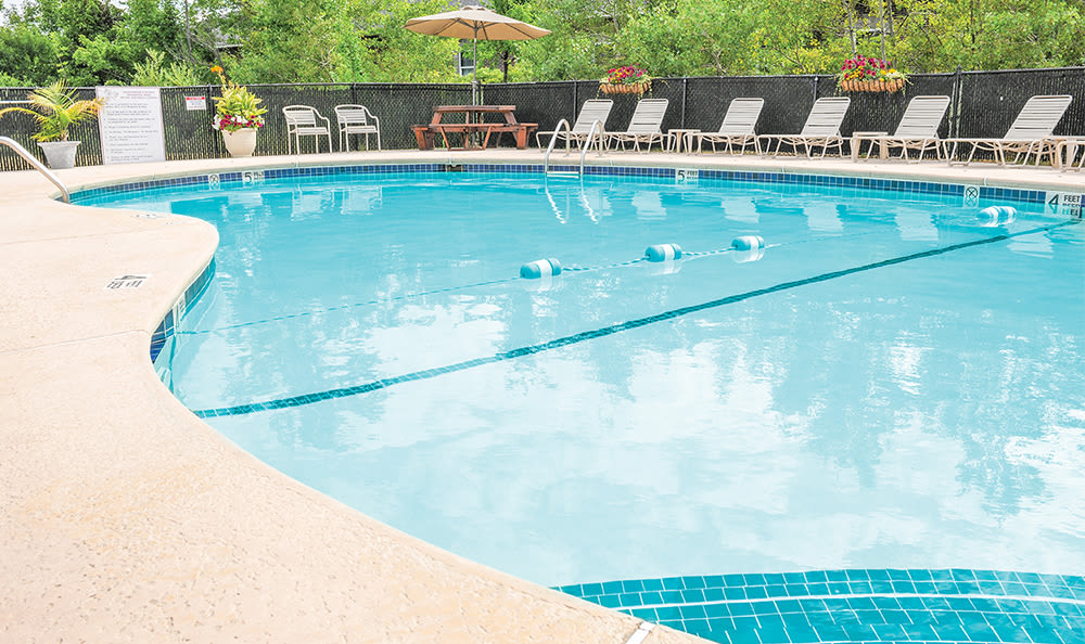 Refreshing swimming pool at Maplewood Estates Apartments in Hamburg, New York
