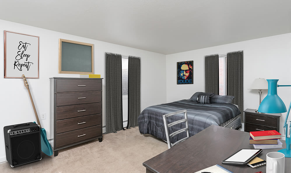Bedroom at Brockport Crossings Apartments & Townhomes in Brockport, New York