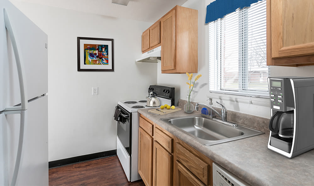 Kitchen at Brockport Crossings Apartments & Townhomes in Brockport, New York