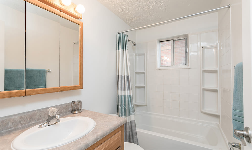 Bathroom at Brockport Crossings Apartments & Townhomes in Brockport, NY