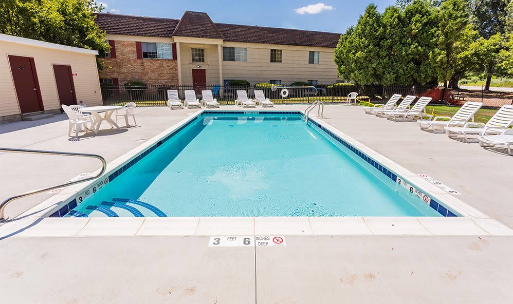 Refreshing pool at Imperial North Apartments in Rochester, New York