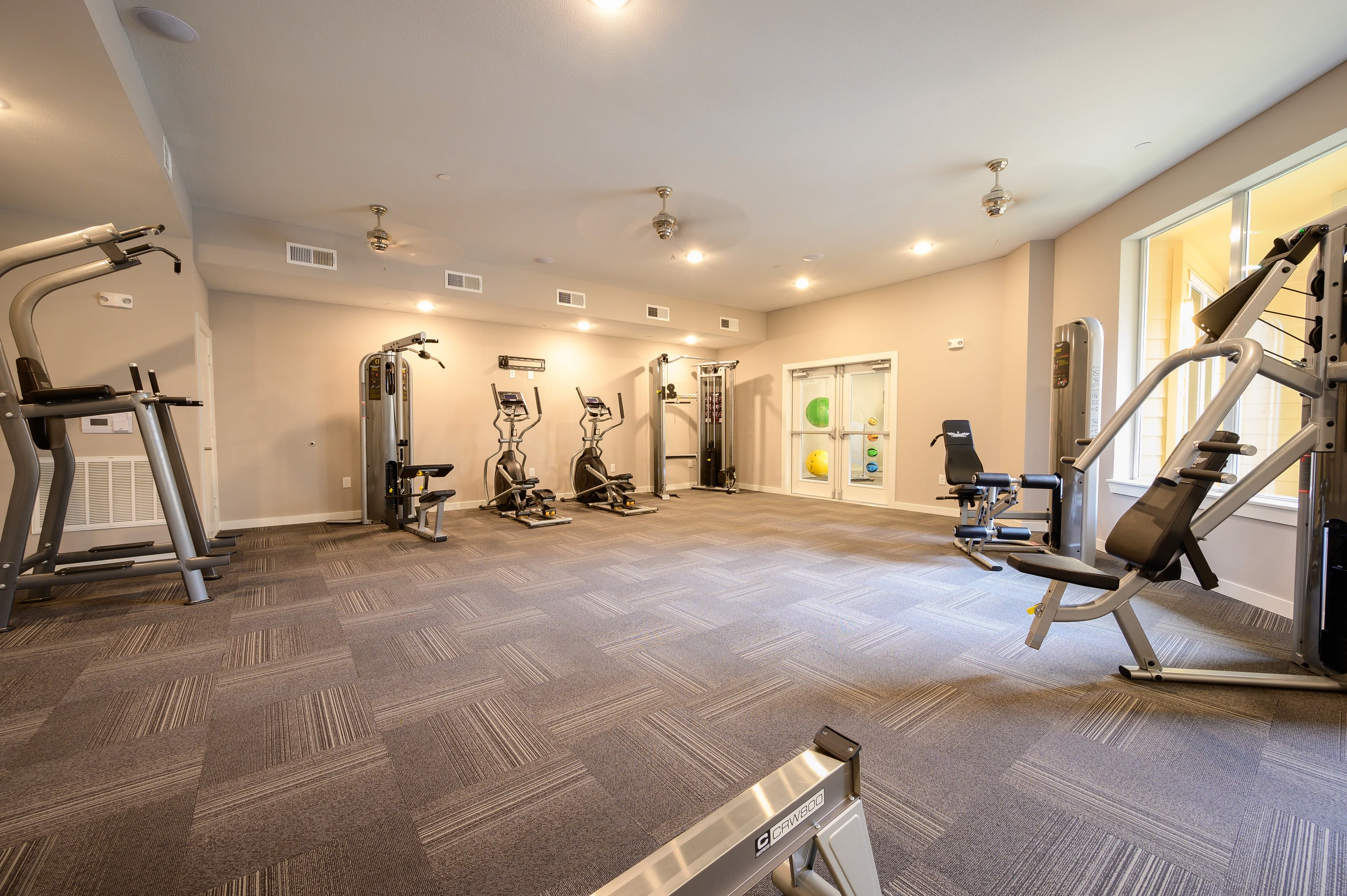 Fitness center at {location_name}} in Houston, Texas