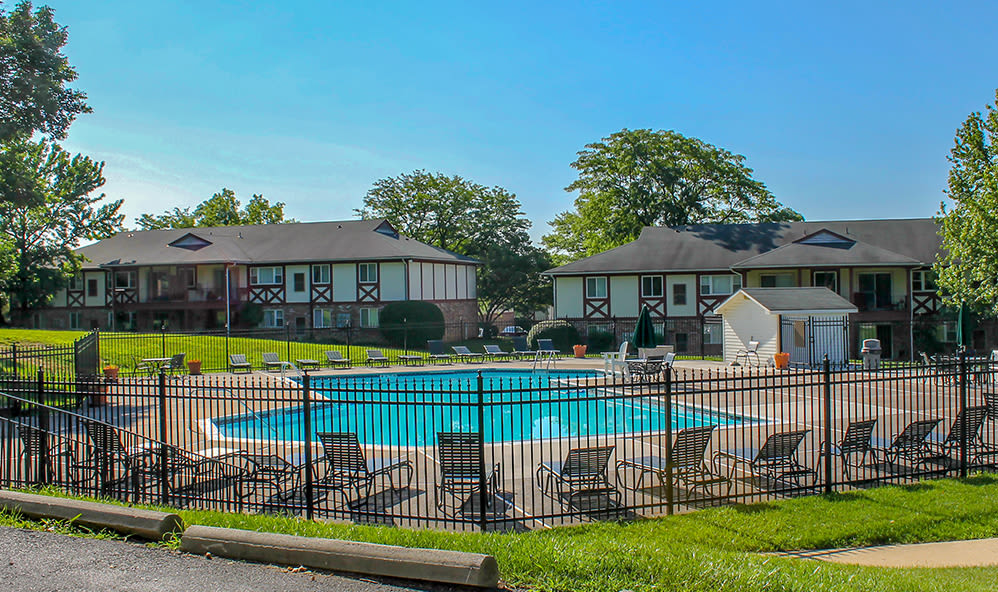 Swimming pool at King's Manor Apartments in Harrisburg, Pennsylvania