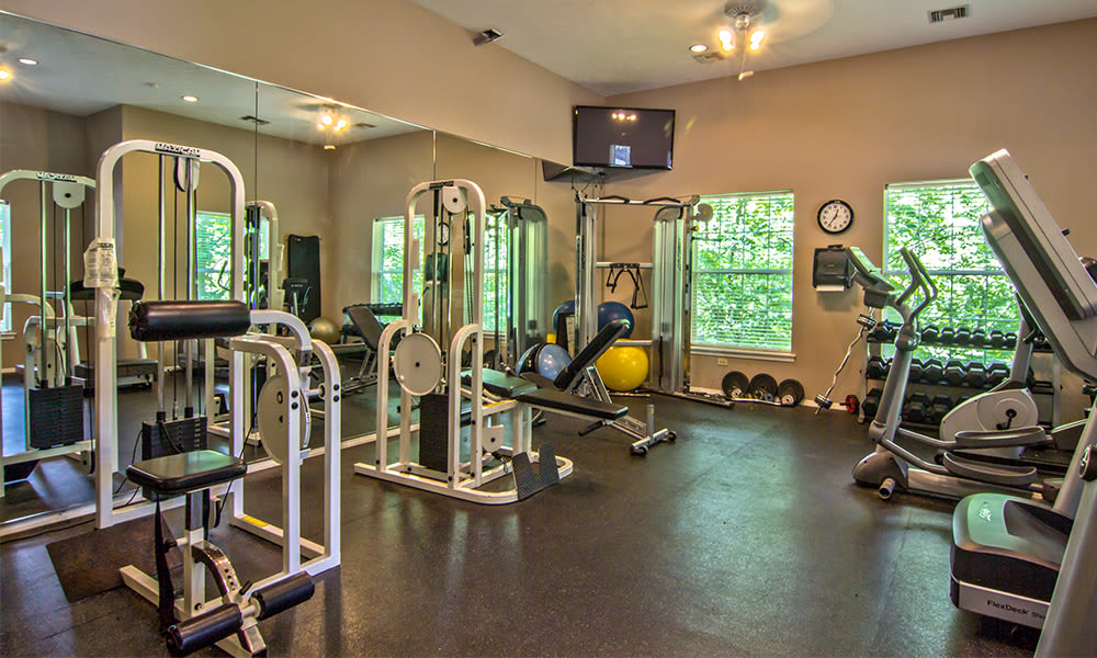 Fitness center at Highlands of Montour Run in Coraopolis, Pennsylvania
