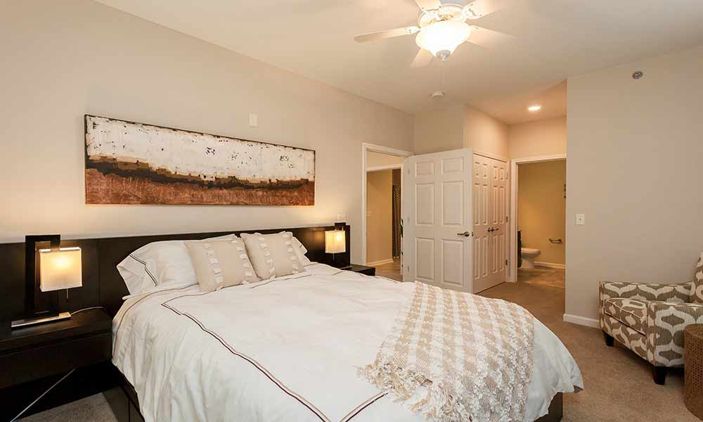 Bedroom at Reserve at Southpointe in Canonsburg, Pennsylvania