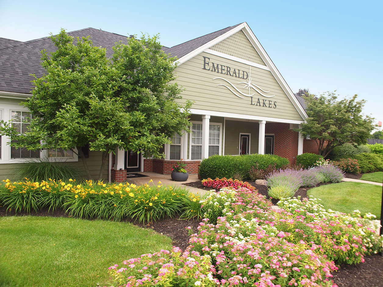 Leasing office at Emerald Lakes in Greenwood, Indiana