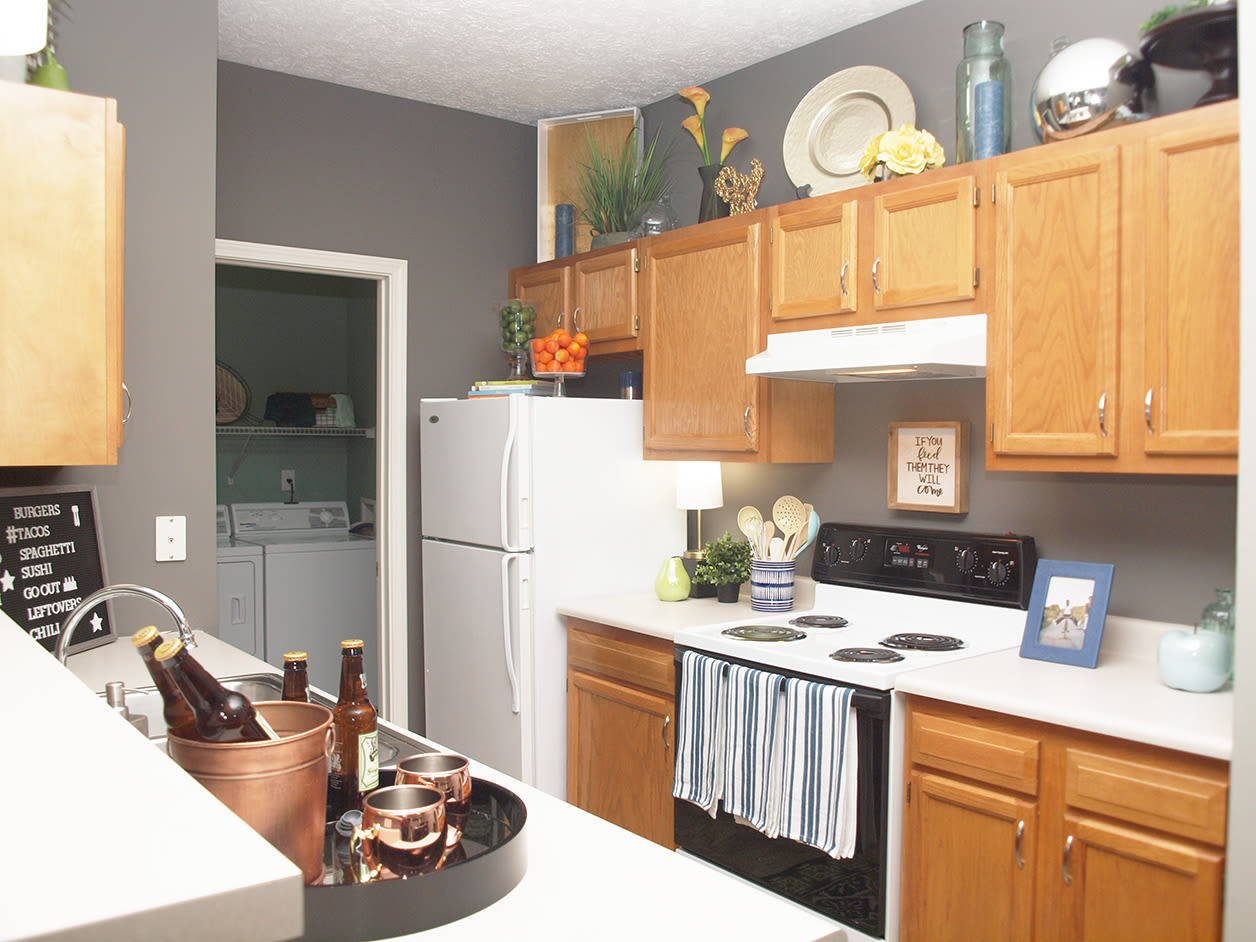 Kitchen at Emerald Lakes in Greenwood, Indiana