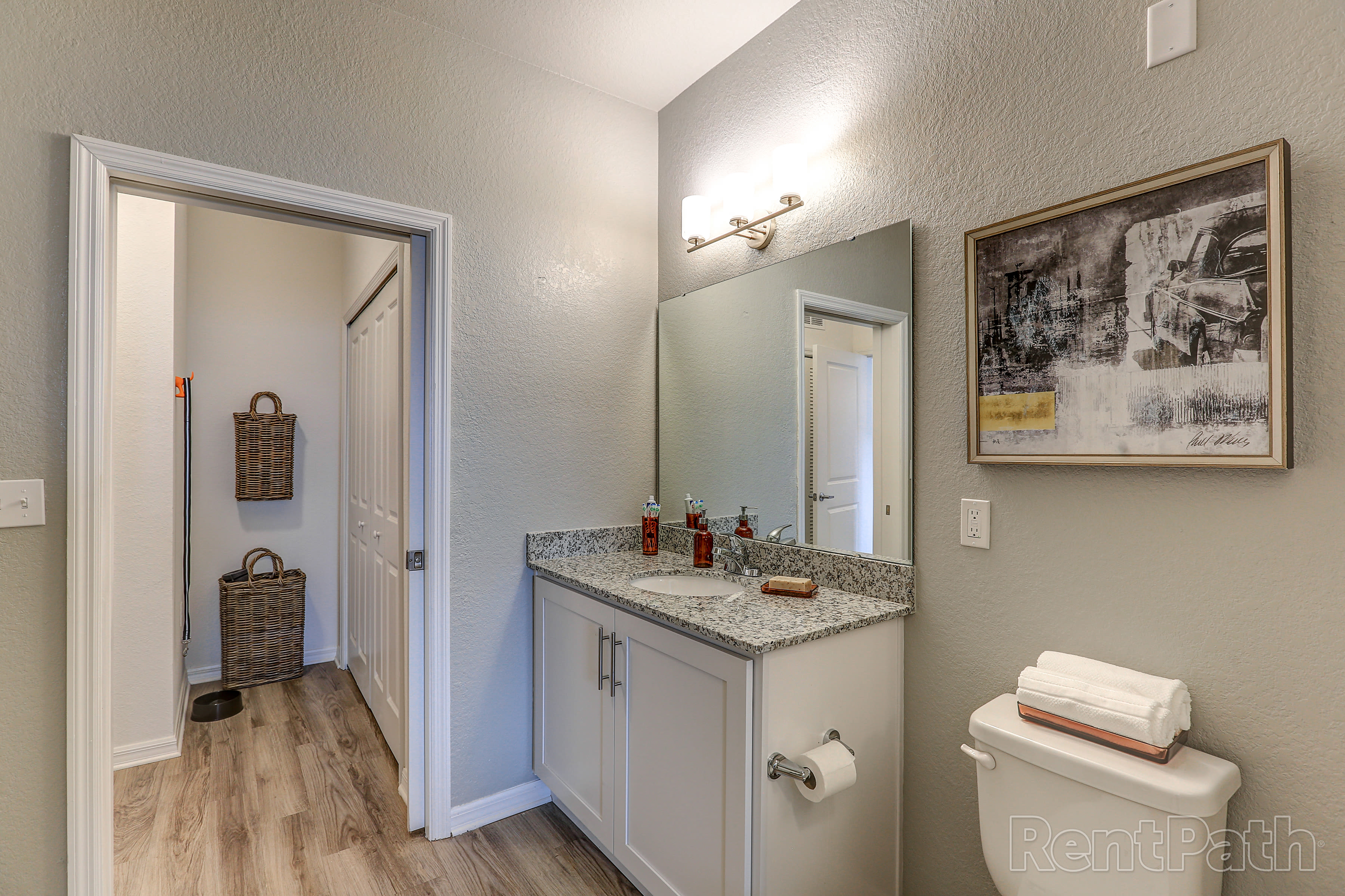 Bathroom at Lola Apartments in Riverview, FL