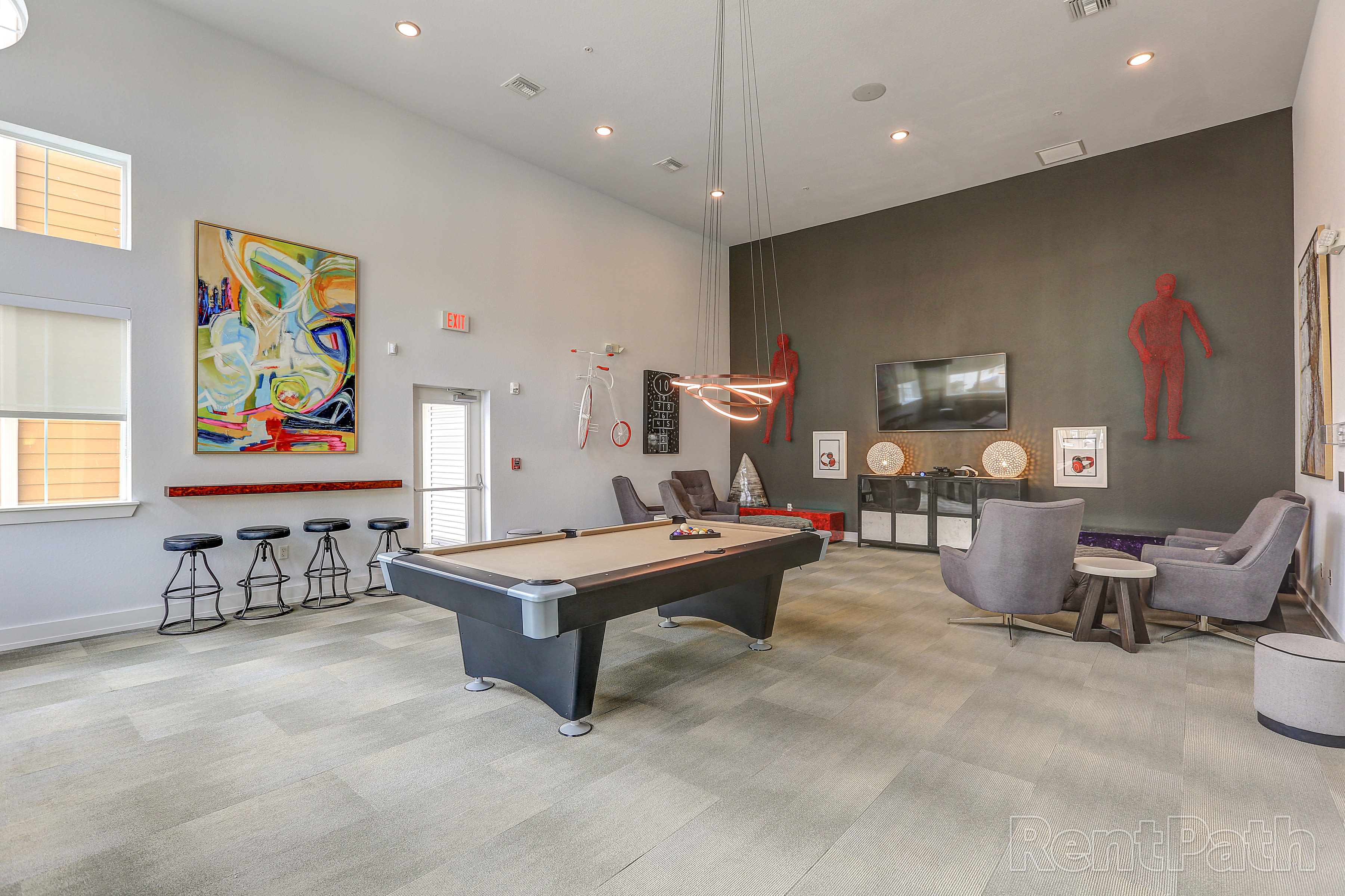 Pool table at Lola Apartments in Riverview, FL