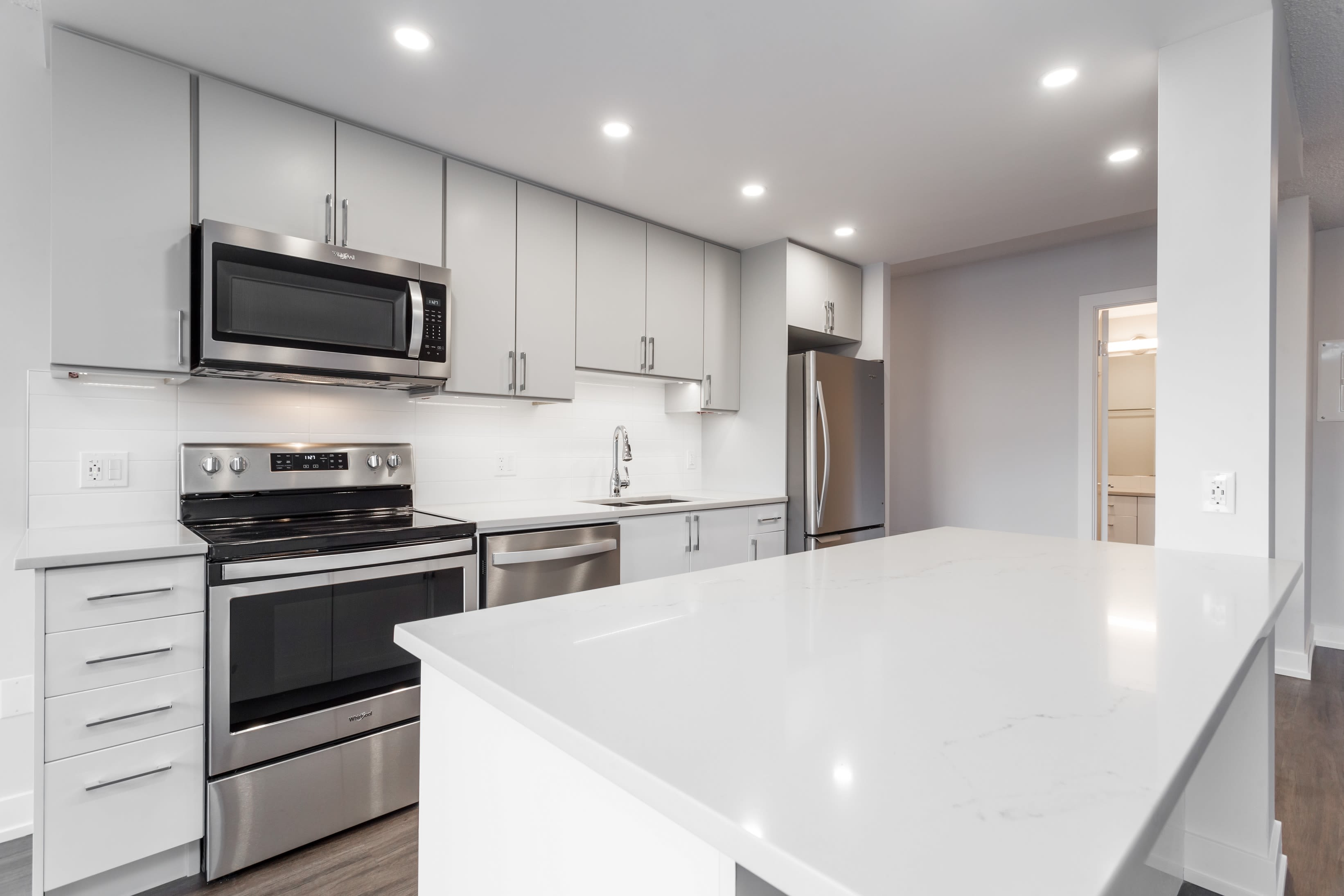 Modern kitchen at The Mansions in Calgary