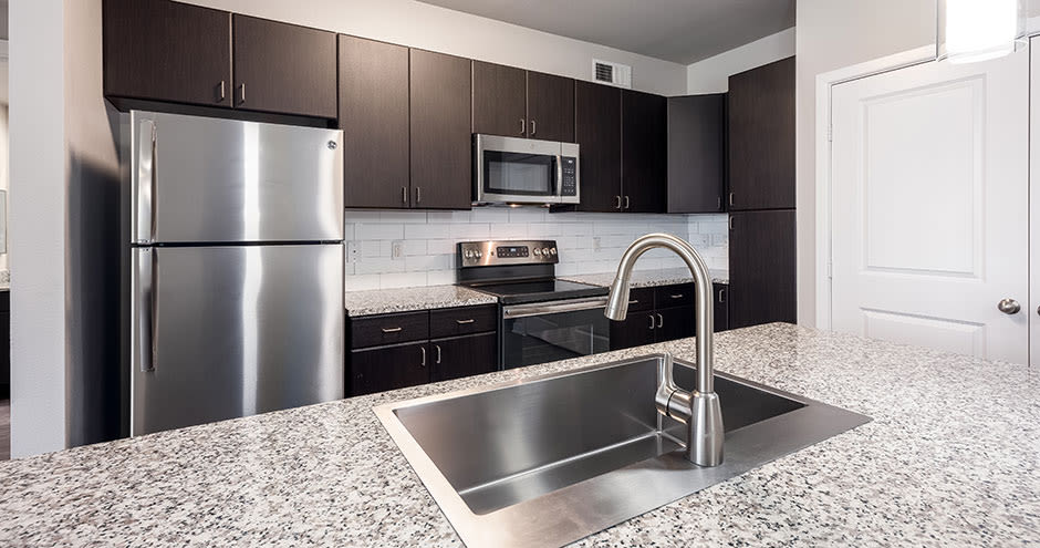 Upgraded kitchen at Addison Keller Springs