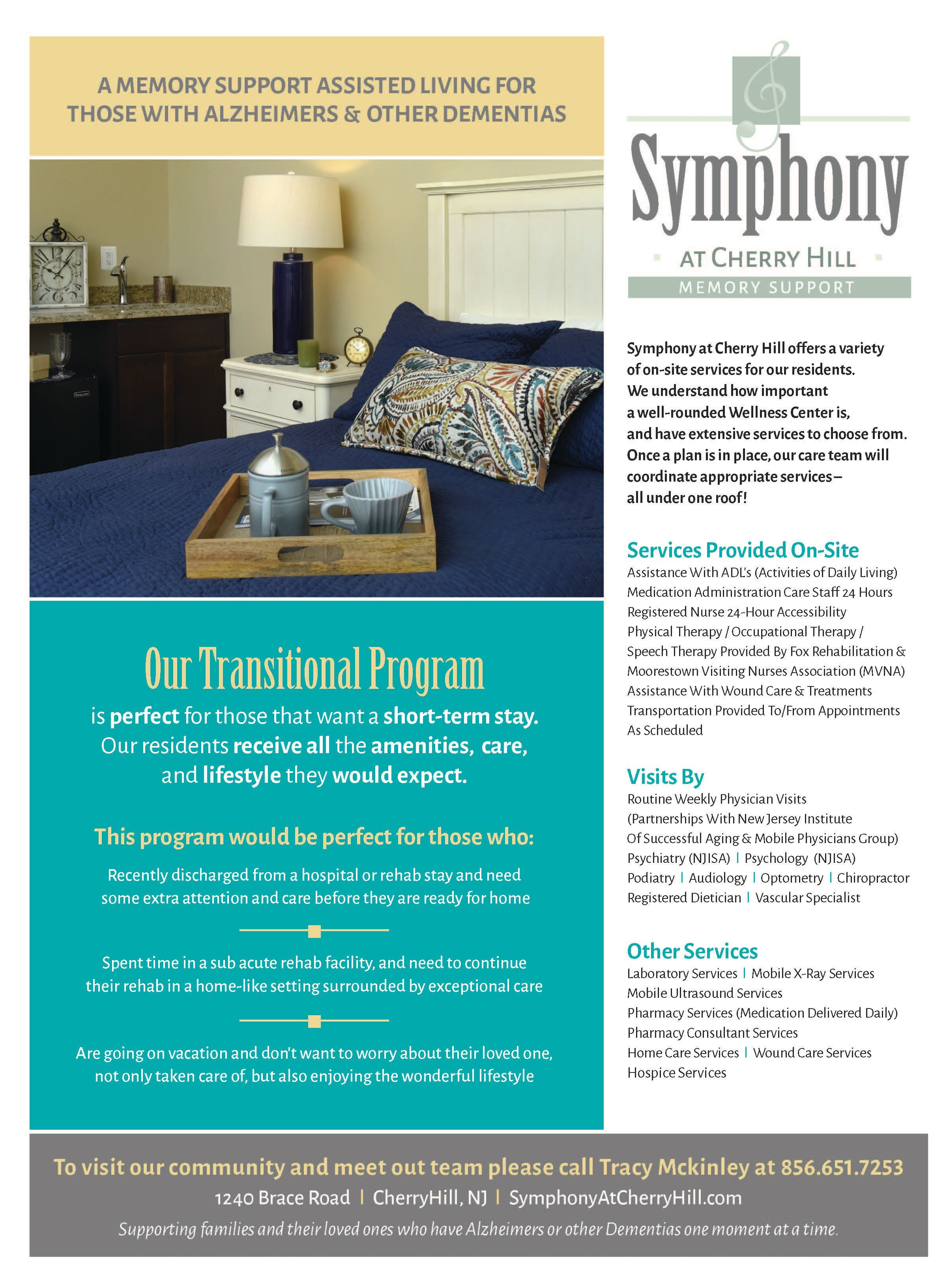The Transitional program brochure from Symphony at Cherry Hill in Cherry Hill, New Jersey.