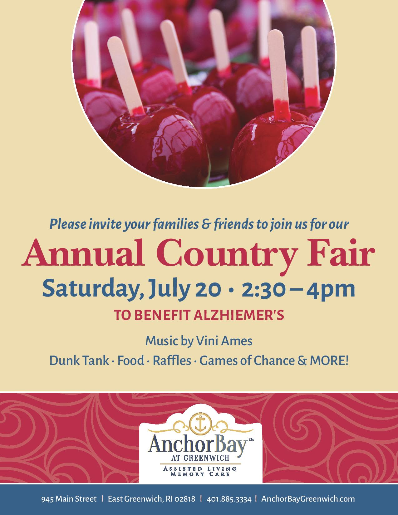 Check out the annual country fair near Anchor Bay at Greenwich in East Greenwich, Rhode Island