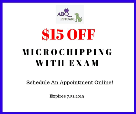 $15 Off Microchip promotion