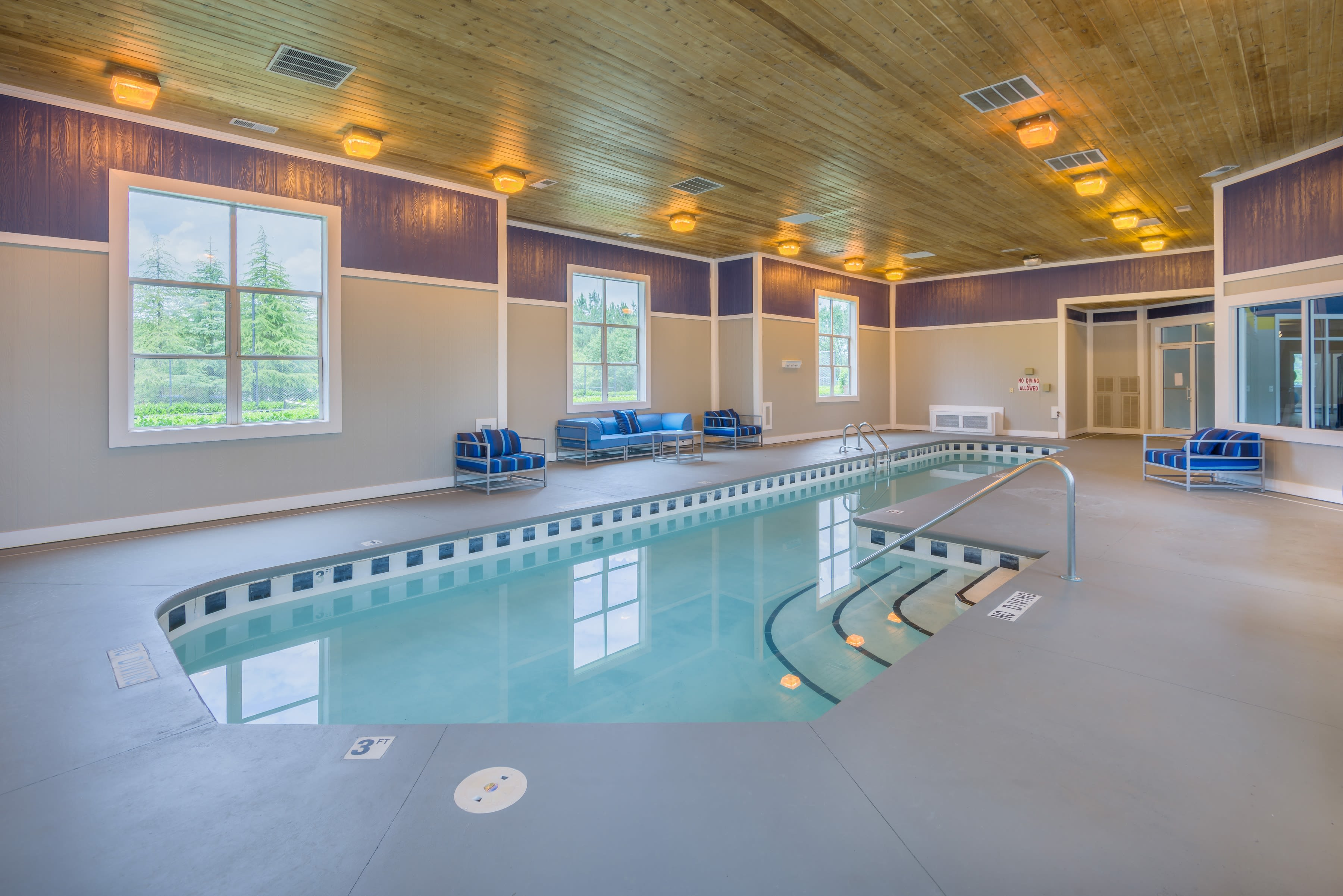 Indoor swimming pool at 200 East in Durham, North Carolina