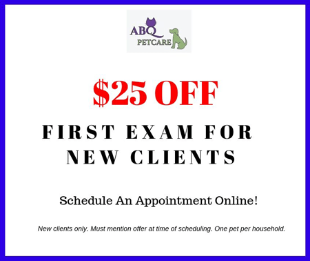 $25 Off First Exam For New Clients