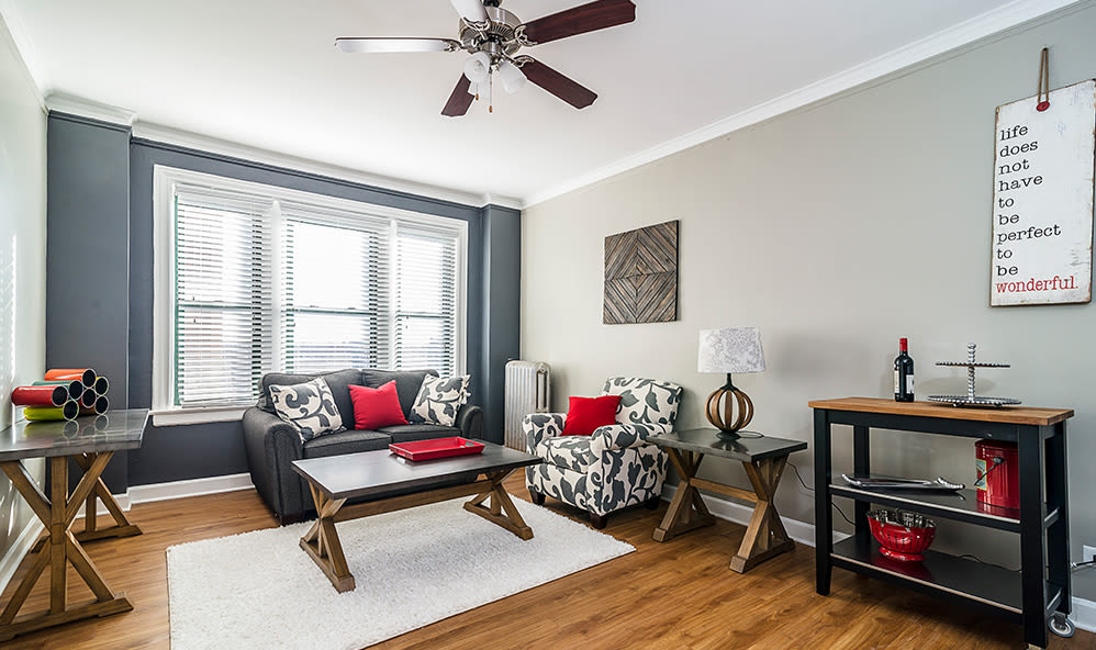 Beautifully-designed interiors at 7100 South Shore Apartment Homes in Chicago, Illinois