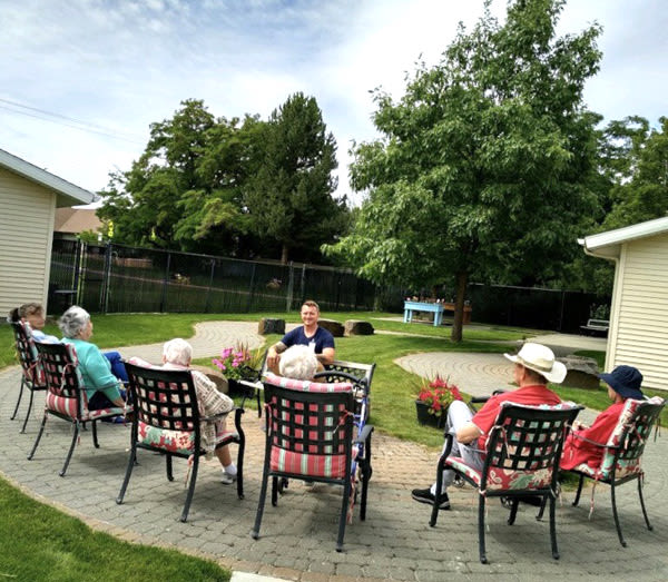 memory care chair yoga at Moran Vista