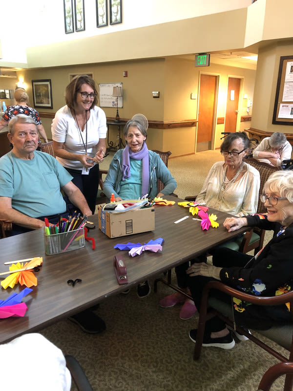 summer craft at Moran Vista