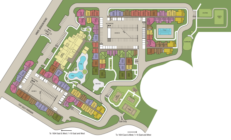 Site map of Villas at the Rim in San Antonio, TX