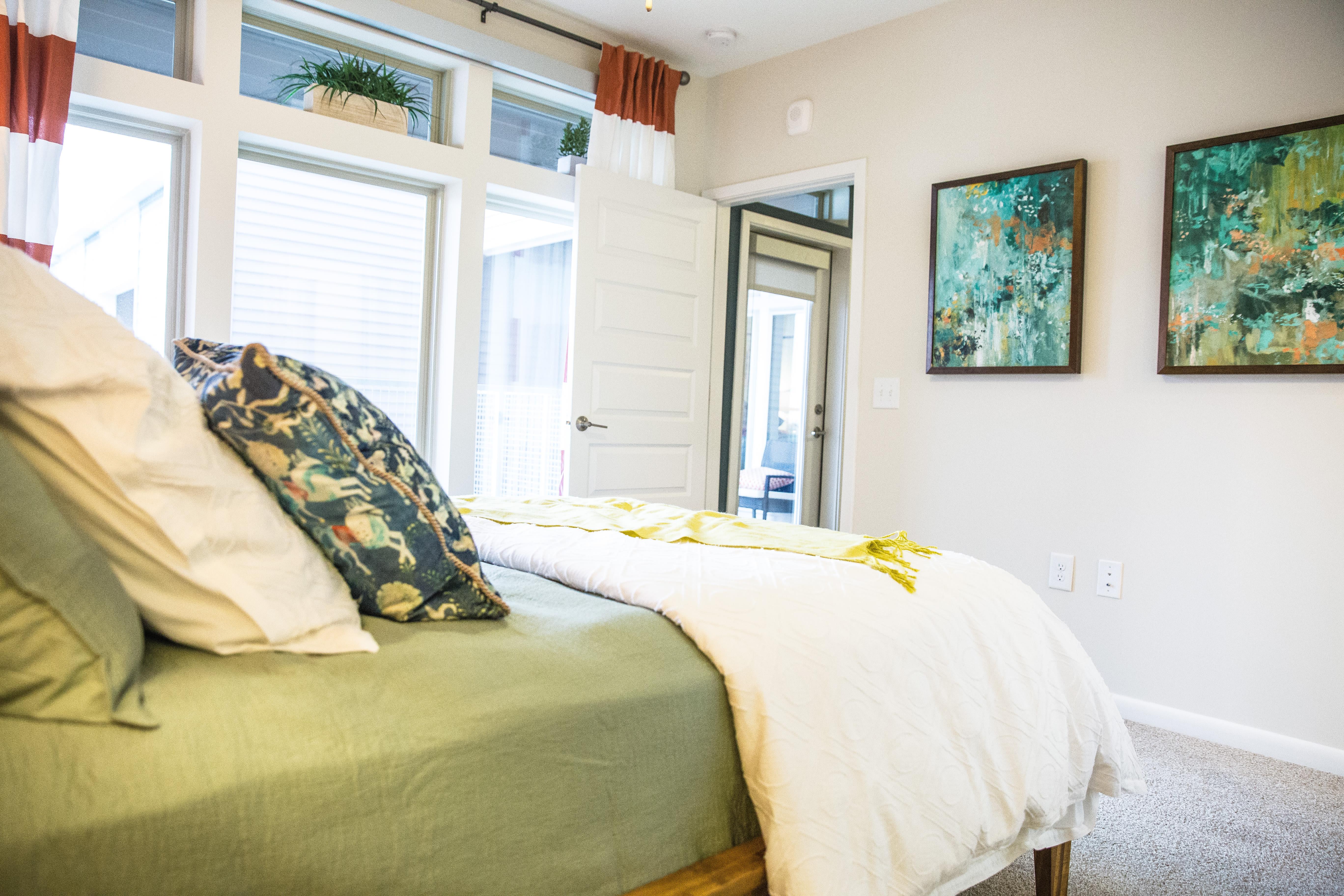 Stylish bedroom at Berkshire Chapel Hill in Chapel Hill