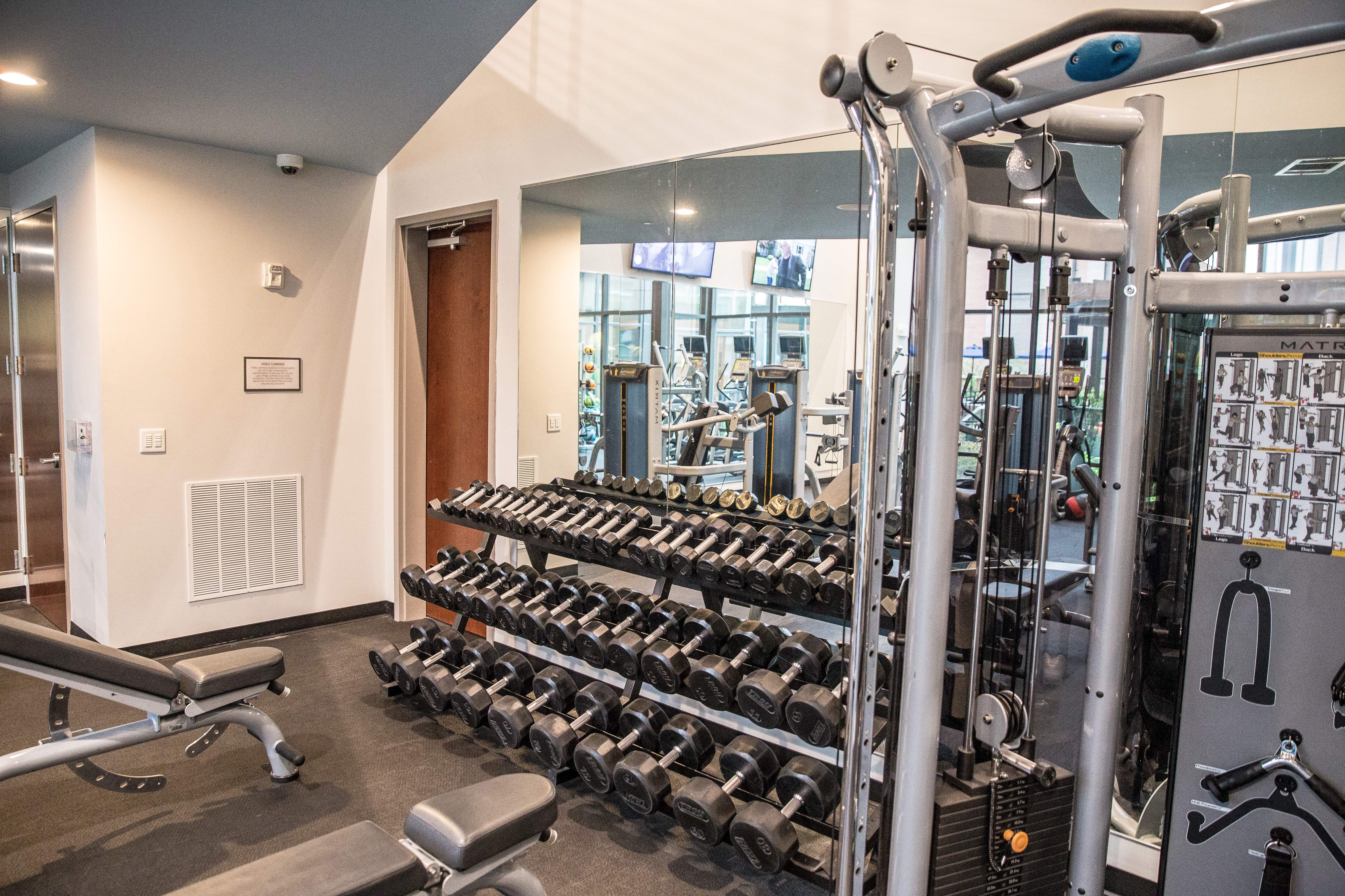 State of the art fitness center at Berkshire Chapel Hill in Chapel Hill