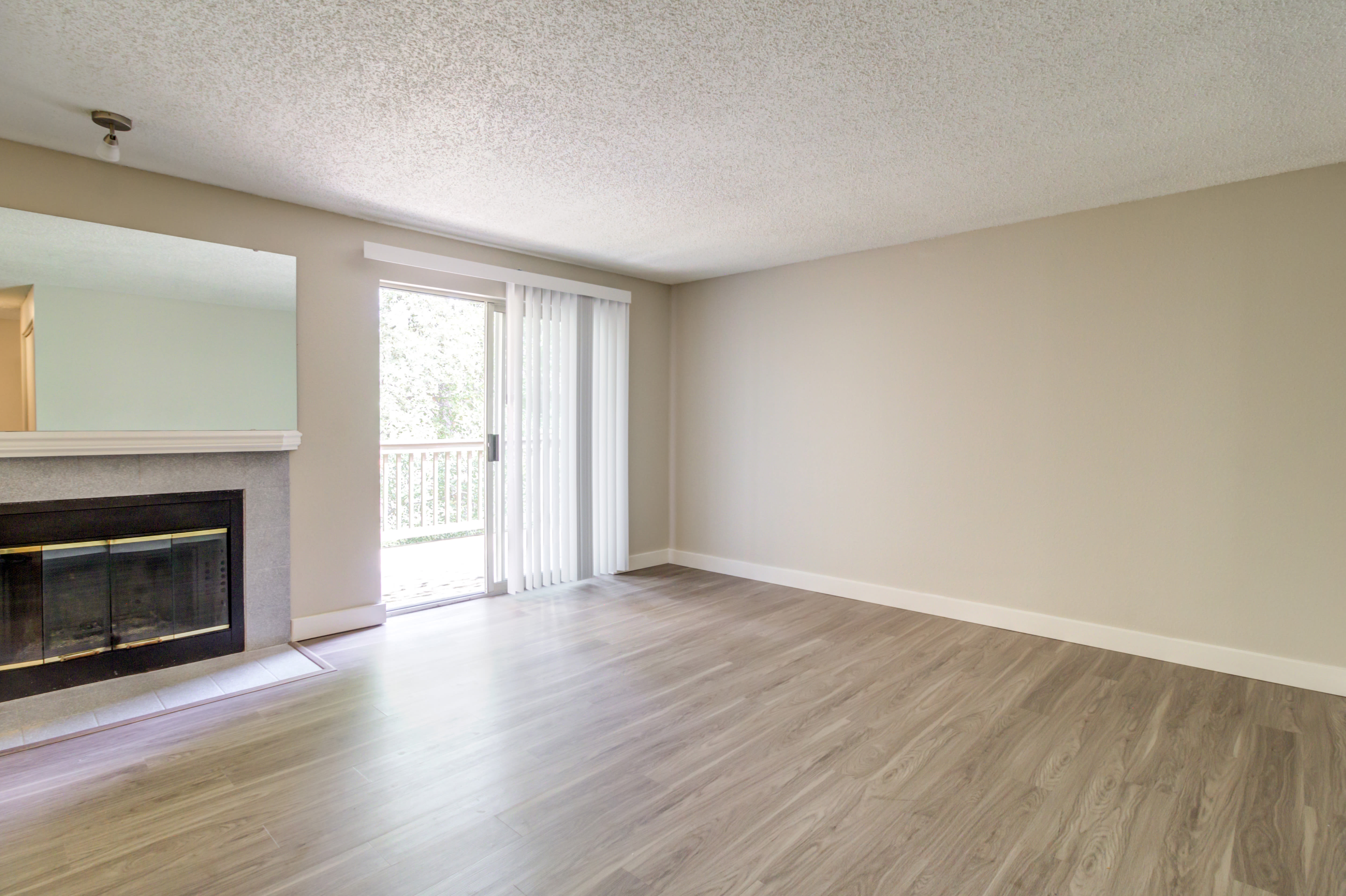 Spacious living room at StonePointe in University Place