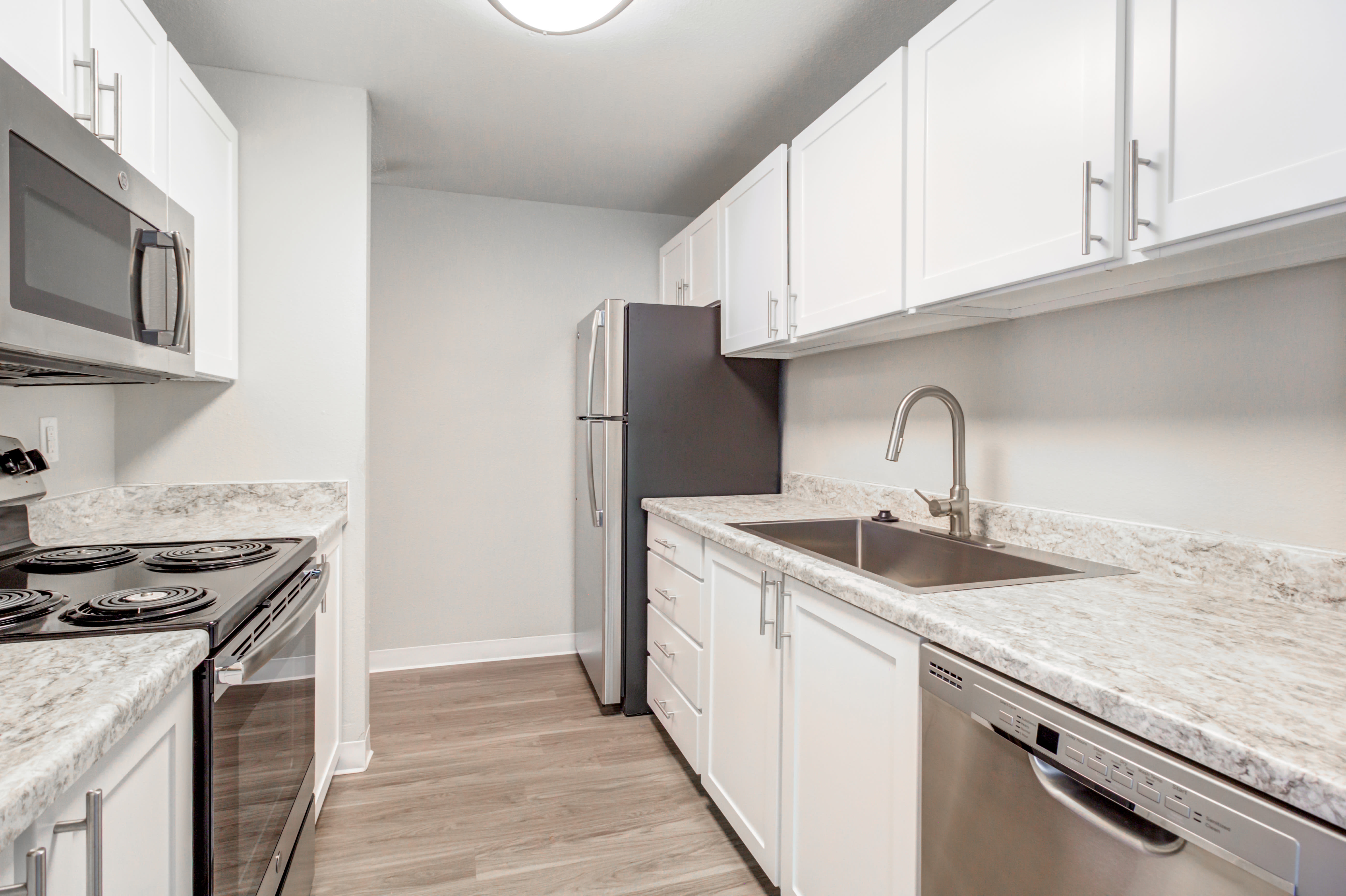 Modern kitchen at StonePointe in University Place