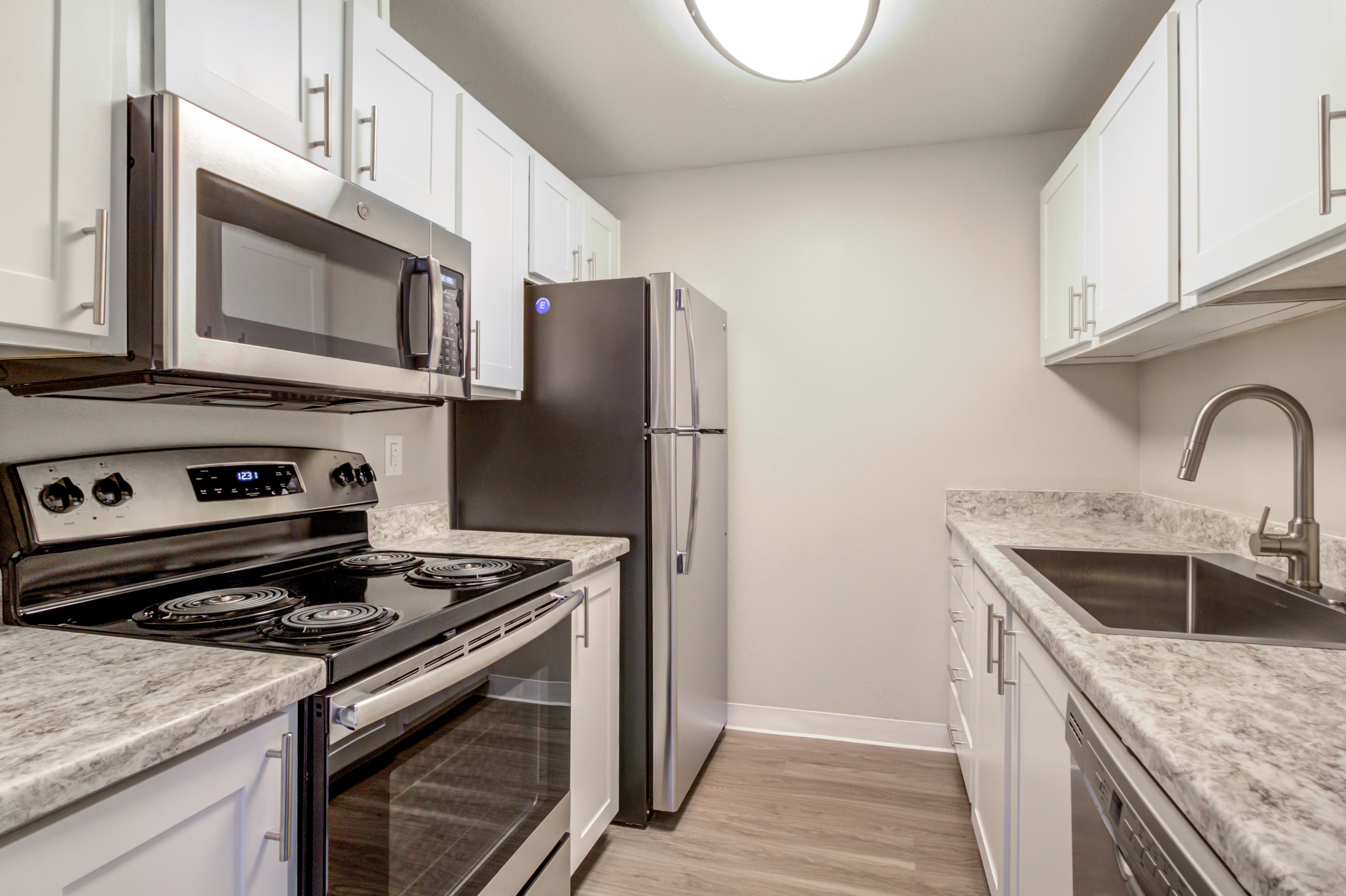 Modern style kitchen at StonePointe in University Place