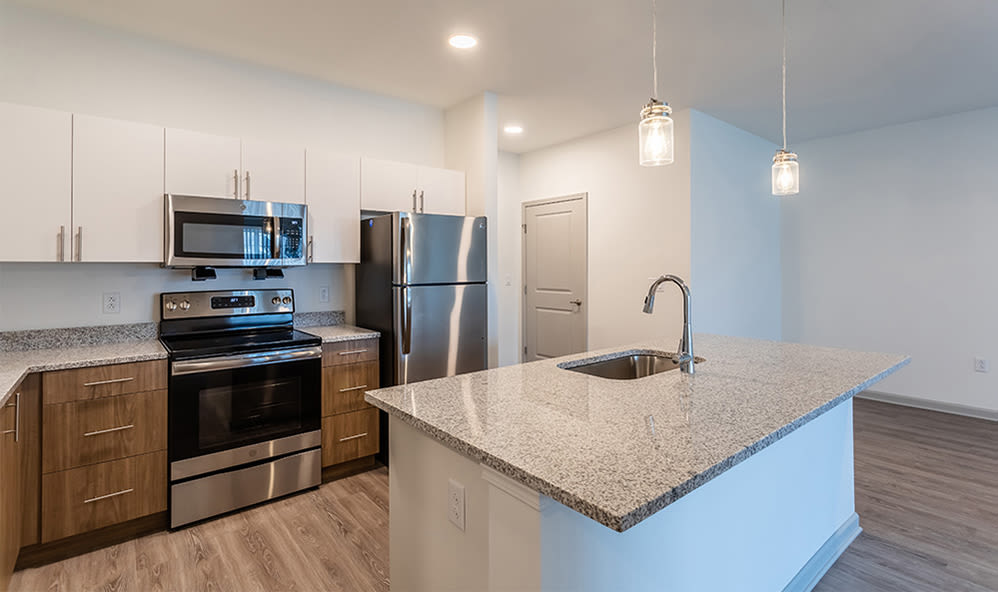Enjoy apartments with a state-of-the-art kitchen at Winding Creek Apartments