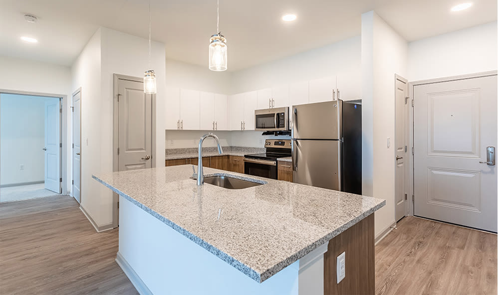 Spacious kitchen at apartments in Webster, New York
