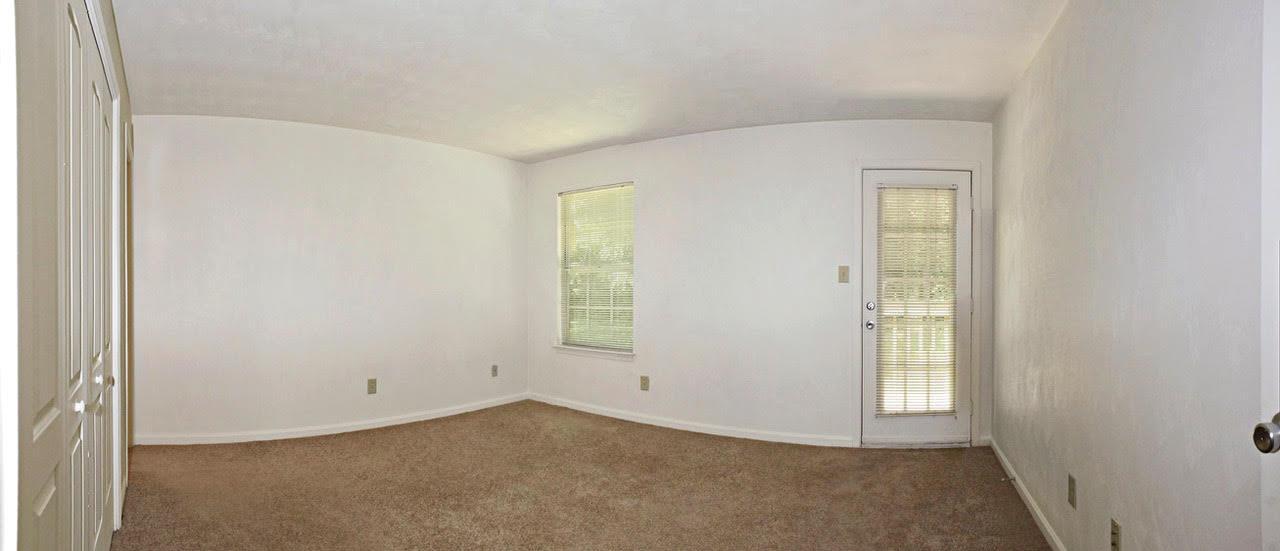 Bright living room at Meadowridge Apartments in Franklin, VA