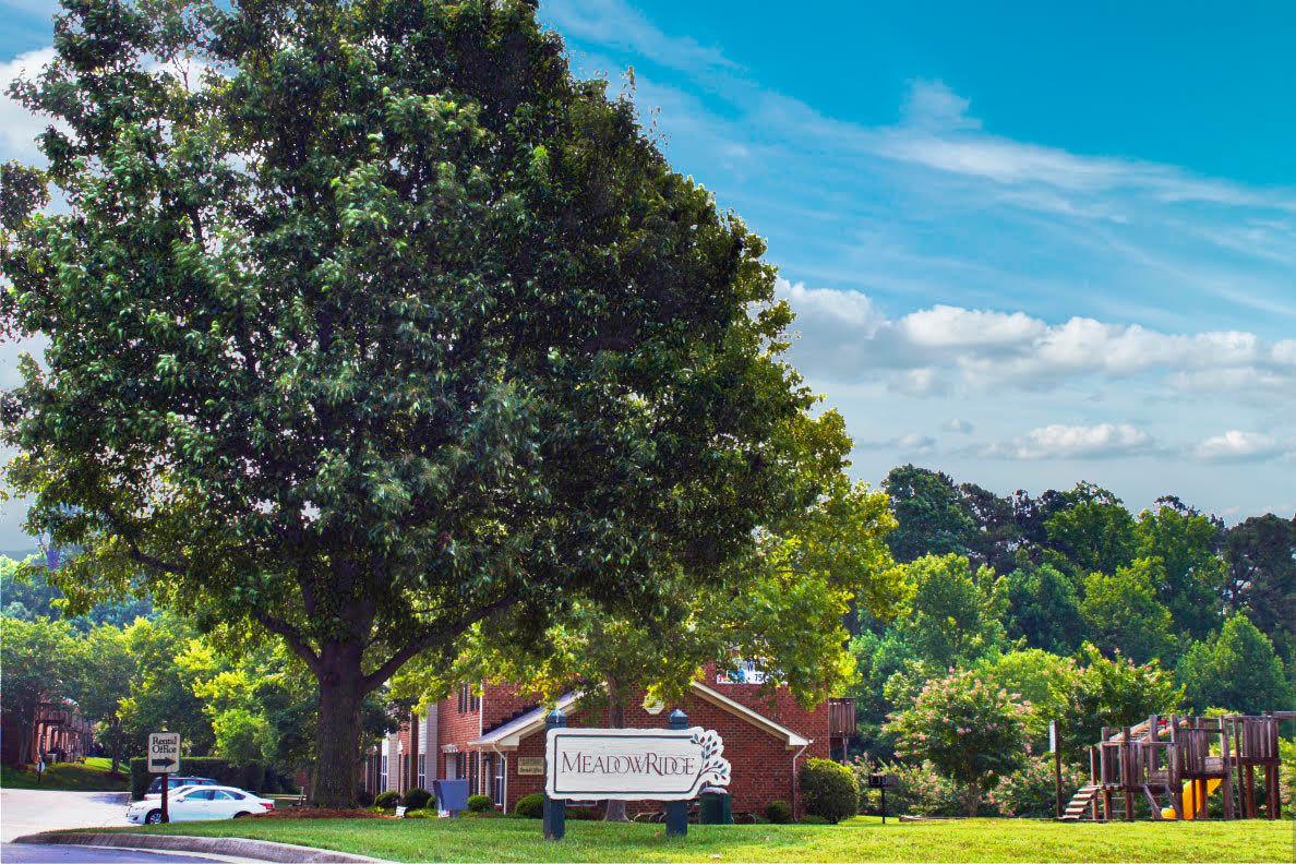 Entrance at Meadowridge Apartments in Franklin, VA