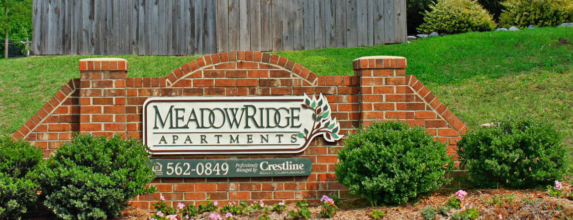 Street Sign at Meadowridge Apartments in Franklin, VA
