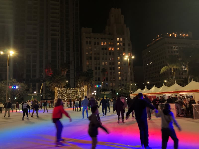 Pershing Square Los Angeles Ice Rink