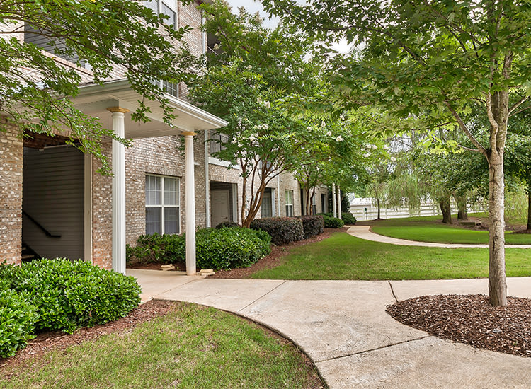Beautiful exteriors at Main Street Apartments in Huntsville, Alabama