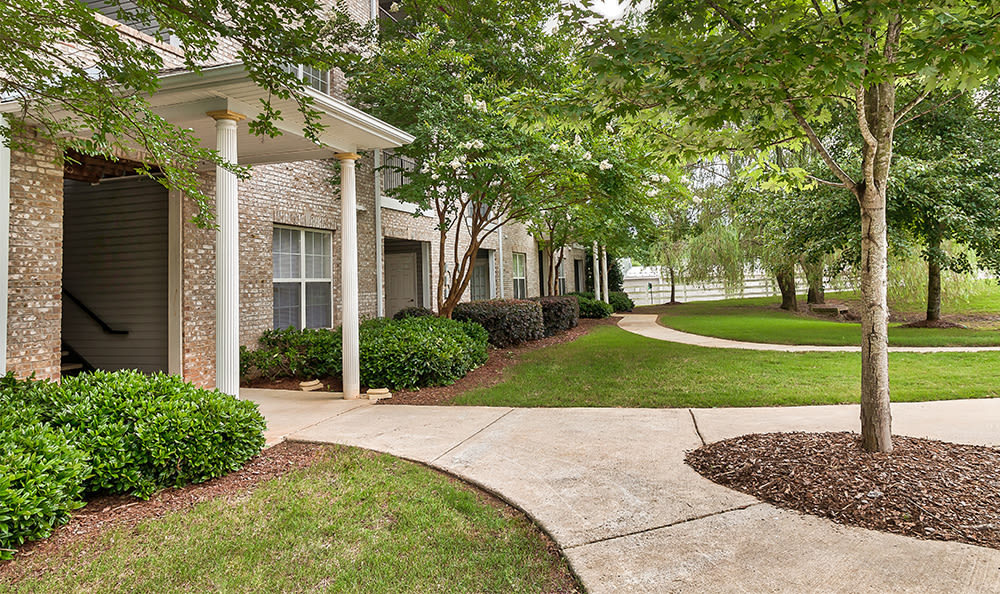 Beautiful exteriors at Main Street Apartments in Huntsville, Alabama