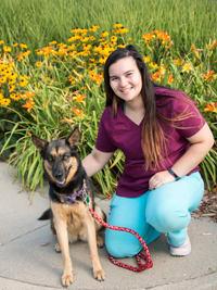 Hannah at University West Pet Clinic