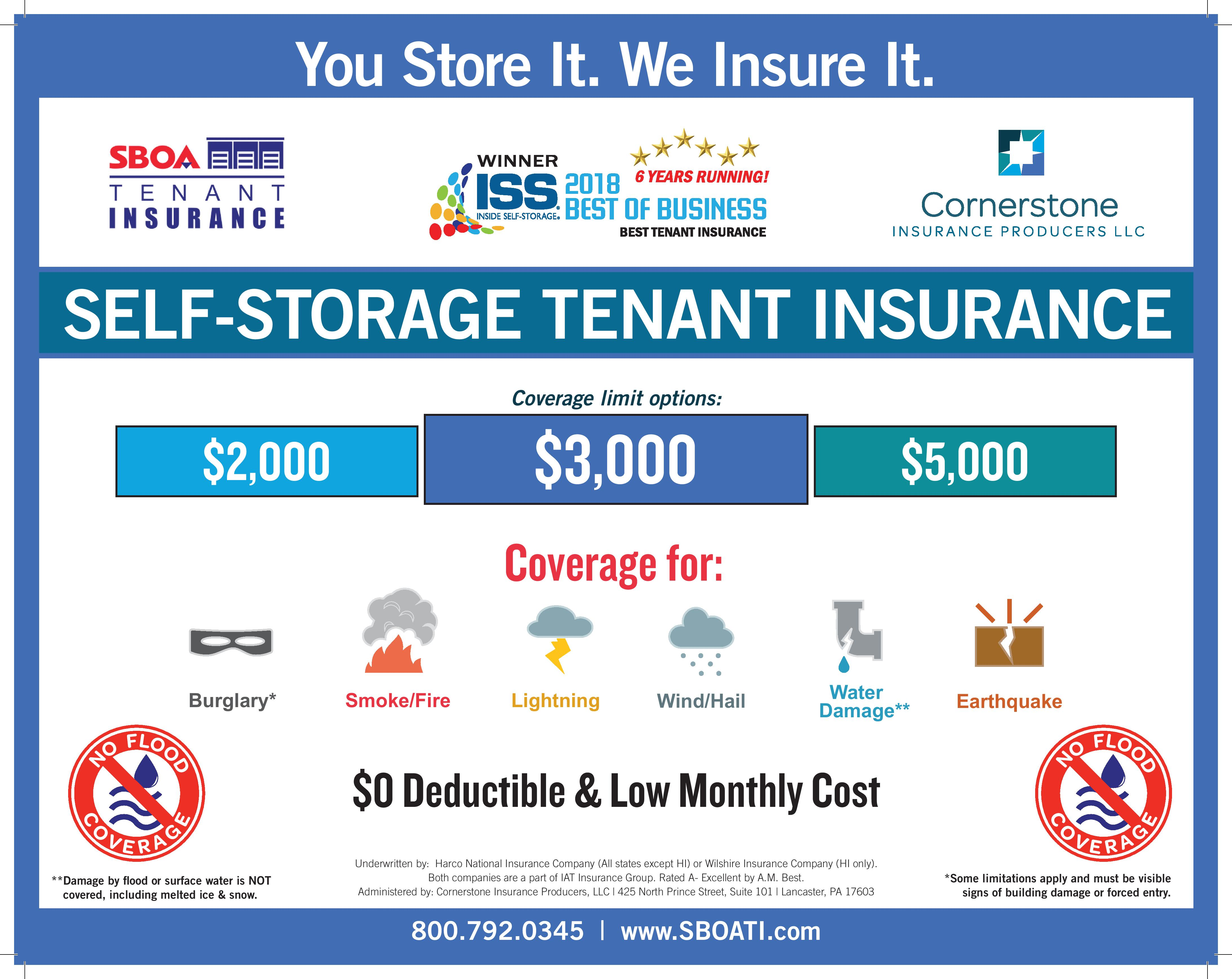 SBOA Tenant Insurance from Summit Self Storage in Akron, Ohio