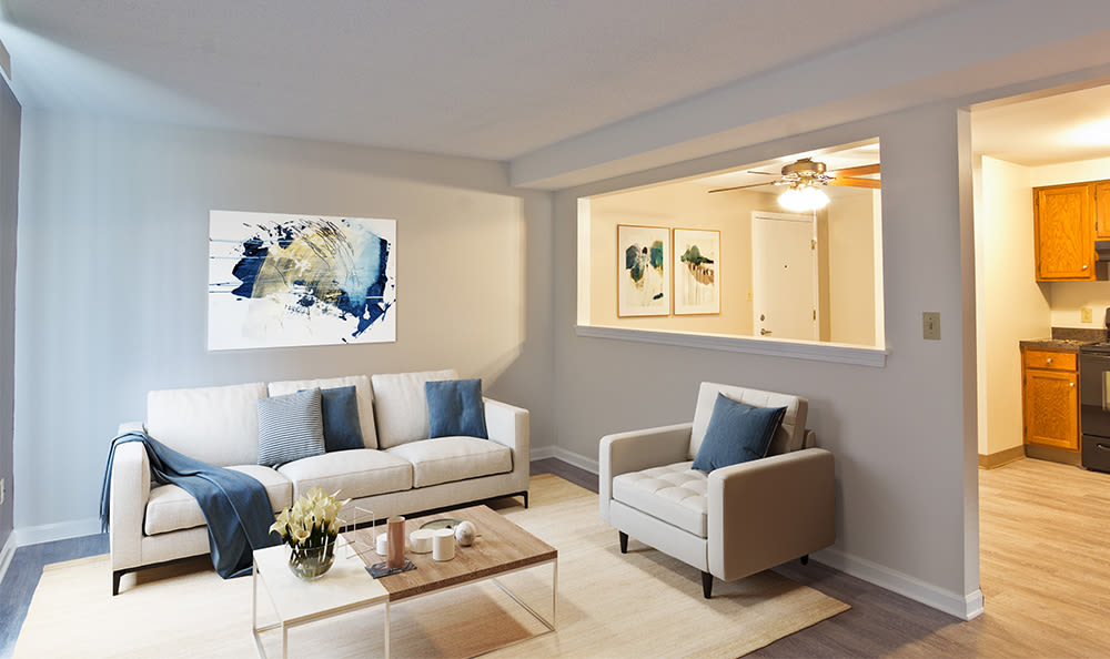 A living room that is great for entertaining at apartments in Hamburg, New York