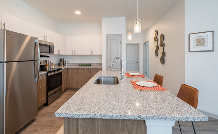 Open floor plans at Winding Creek Apartments in Webster, New York.