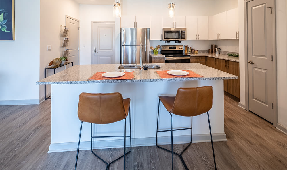 Enjoy apartments with a spacious kitchen at Winding Creek Apartments