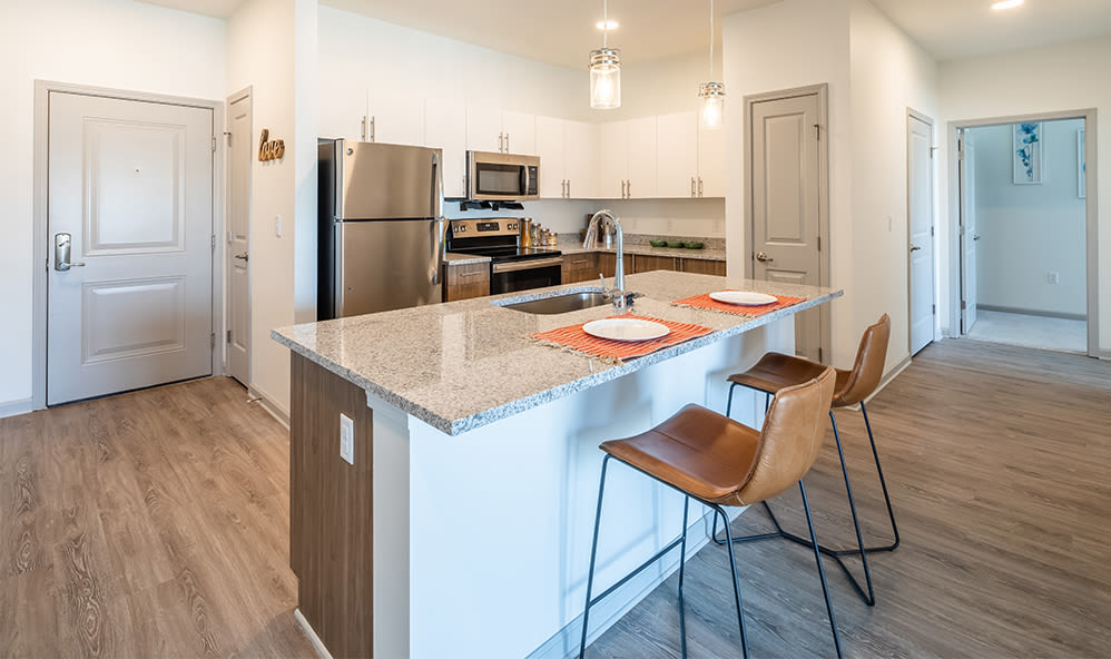 Kitchen at apartments in Webster, New York